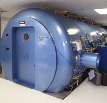 One of HyOx Medical Treatment Center's multiplace hyperbaric chambers.
