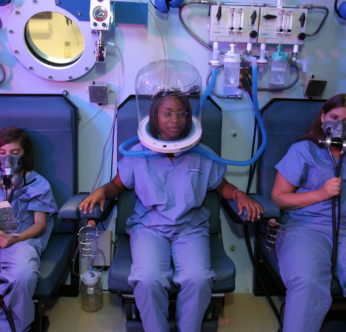 Patients in our Hyperbaric Chamber. Carbon Monoxide Poisoning can effect anyone.